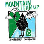 VOLCOM  Patagonia MOUNTAIN CLEAN UP in 岩岳