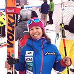 スキークロス、梅原玲奈選手が世界選手権で今季最高順位
